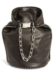 Alexander Wang Attica Dry Sack Leather Bucket Bag