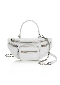Alexander Wang Attica Mini Croc-Embossed Belt Bag