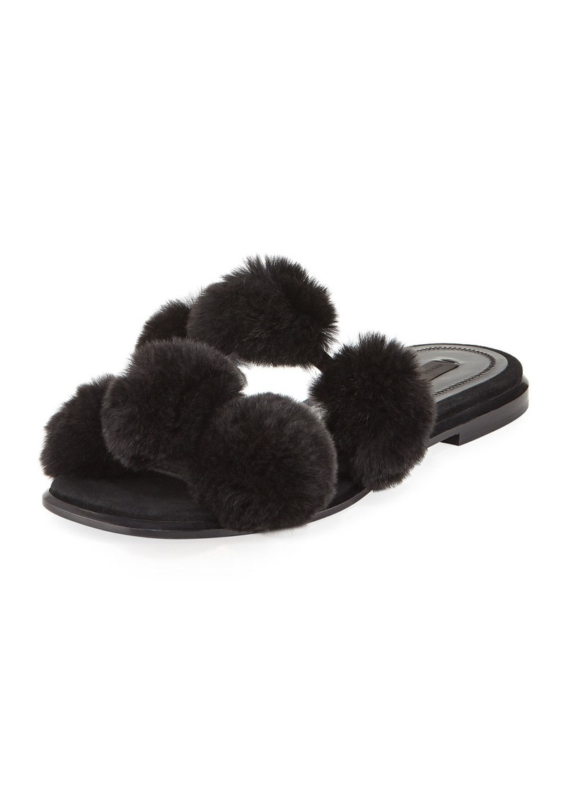 Alexander Wang Ava Fur Pompom Slide Sandal uynPGll