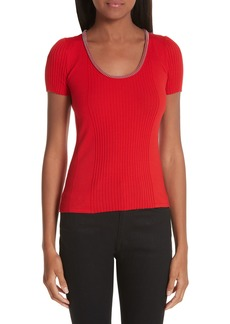 Alexander Wang Ball Chain Trim Knit Top