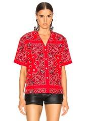Alexander Wang Bandana Print Hawaiian Shirt