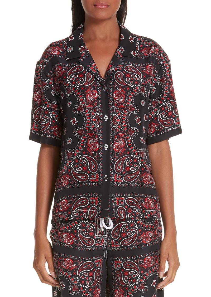 Alexander Wang Bandana Print Silk Shirt