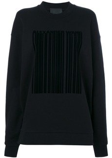 Alexander Wang barcode logo sweatshirt - Black