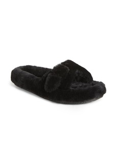 Alexander Wang Bee Genuine Shearling Slide Sandal (Women)