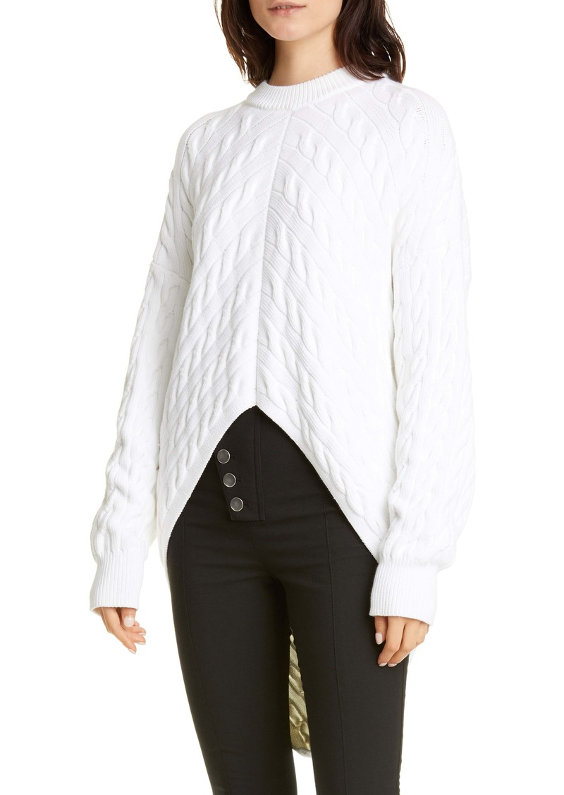 Alexander Wang Bias Cable Wool Blend Sweater