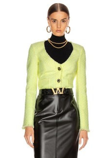 Alexander Wang Bias Tweed Cardigan Jacket