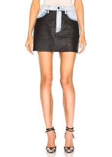 Alexander Wang Bite Leather Combo Skirt