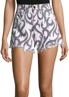 Alexander Wang Bite Tribal Neon Cut Off Shorts