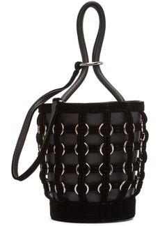Alexander Wang Black Caged Mini Roxy Bucket Bag