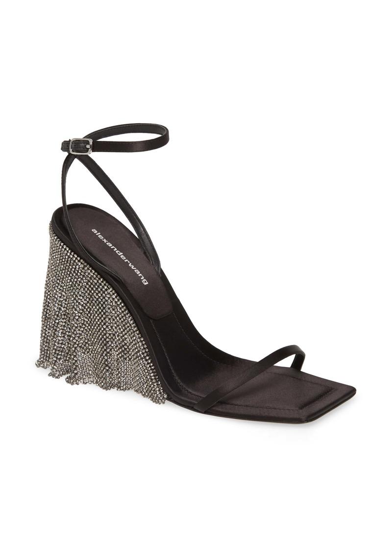 Alexander Wang Black Diamante Square Toe Sandal (Women)