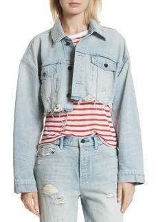 T by Alexander Wang Alexander Wang Blaze Crop Denim Jacket