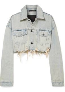 Alexander Wang Blaze cropped distressed denim jacket