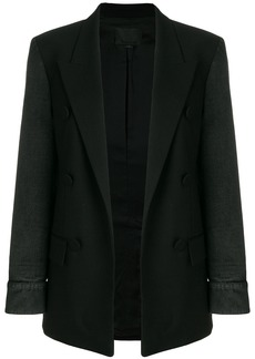 Alexander Wang blazer with denim sleeves - Black
