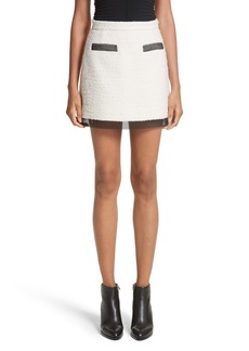 Alexander Wang Chain Mail Trim Tweed Miniskirt