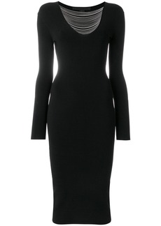 Alexander Wang chain trim fitted dress - Black