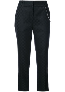 Alexander Wang checkered trousers with chain - Black