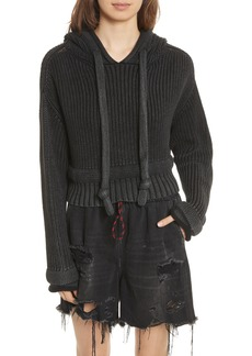 T by Alexander Wang Chunky Knit Hoodie