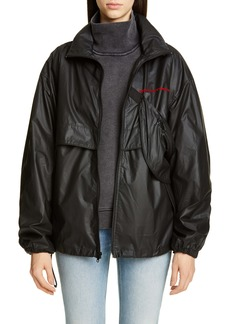 Alexander Wang Chynatown Faux Leather Track Jacket