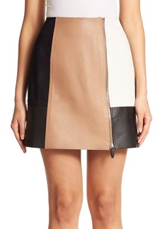 Alexander Wang Colorblock Leather Mini Skirt