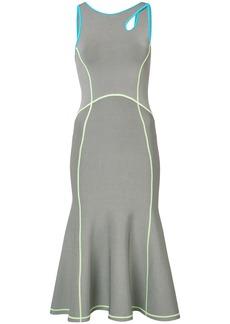 Alexander Wang contrast seam fitted dress