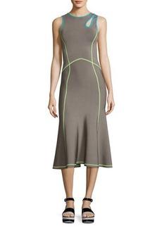 Alexander Wang Contrast-Trim Midi Tank Dress