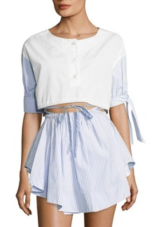 Alexander Wang Cotton Cropped Top