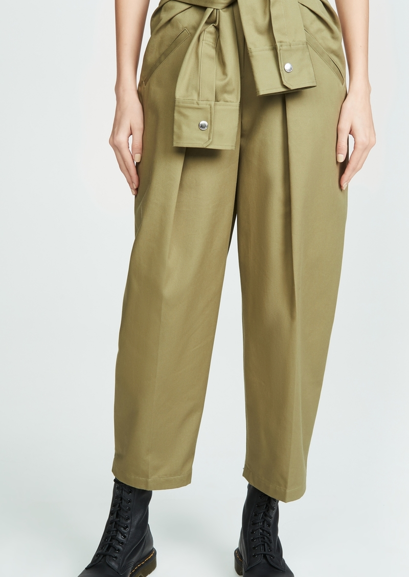 Alexander Wang Cotton Tie Front Waist Trousers