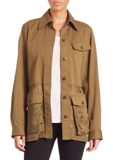 Alexander Wang Cotton Twill Military Parka