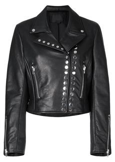 Alexander Wang cropped biker jacket - Black