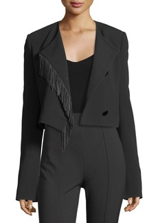 Alexander Wang Cropped Leather-Fringe Jacket