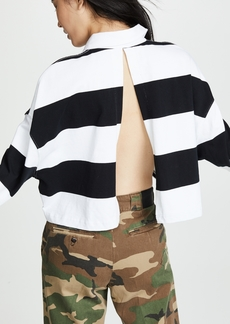 Alexander Wang Cropped Rugby Stripe Shirt
