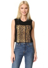 Alexander Wang Cropped Tank with Barcode