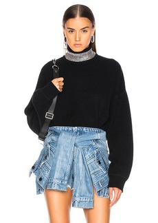 Alexander Wang Crystal Turtleneck Sweater