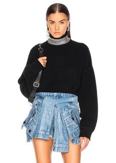 Alexander Wang Crystal Turtleneck Sweater