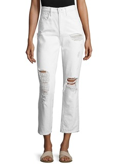 Alexander Wang Cult Cropped Distressed Pant