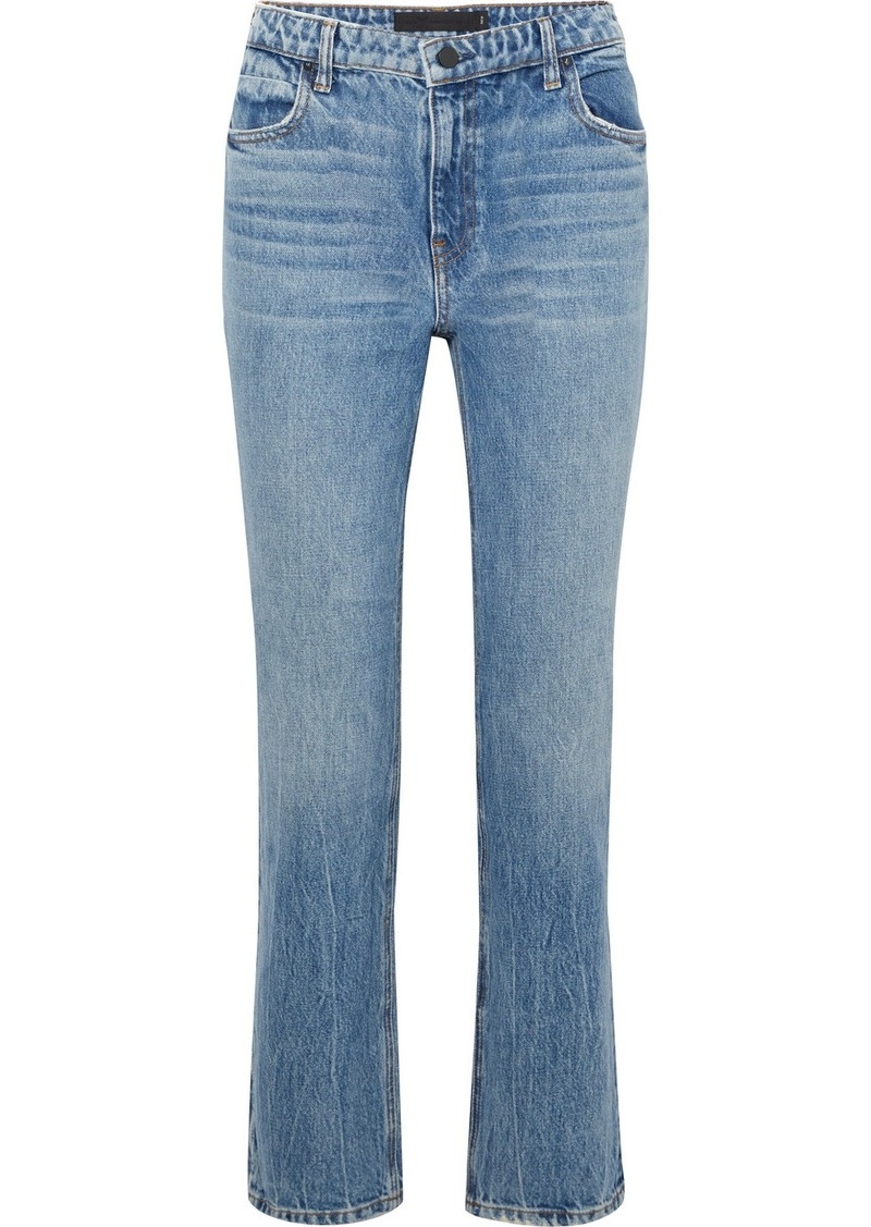 d30d89a2636e Alexander Wang Cult cropped high-rise straight-leg jeans