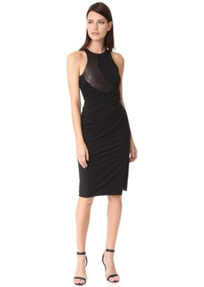 Alexander Wang Curved Leather Panel Dress
