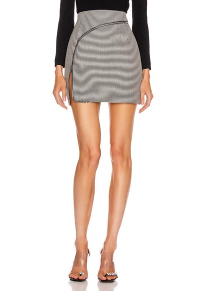 Alexander Wang Curved Zipper Skirt