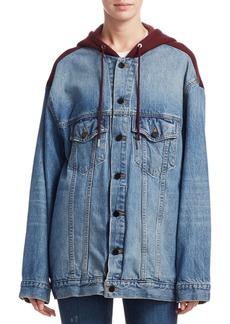 Alexander Wang Daze Mix Cotton Denim Jacket
