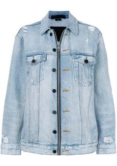 Alexander Wang Daze zip denim jacket - Blue