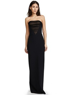 Alexander Wang Deconstructed Bustier Gown with Tulle Front Detail
