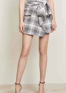 Alexander Wang Deconstructed Tie Front Skirt
