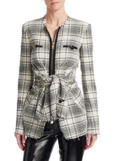Alexander Wang Deconstructed Tie-Front Jacket