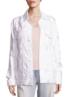 Alexander Wang Denim x Alexander Wang Daze Distressed Denim Jacket