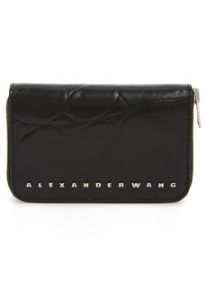 Alexander Wang Dime Leather Compact Wallet