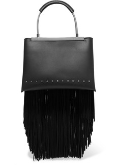 Alexander Wang Dime small fringed leather tote