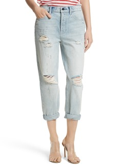 T by Alexander Wang Distressed Boyfriend Jeans (Vintage Bleach)