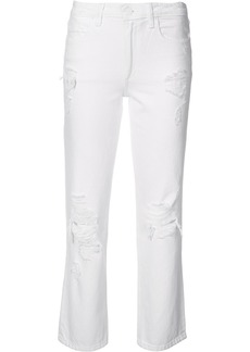 Alexander Wang distressed straight jeans