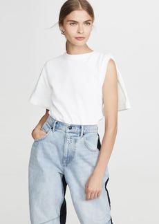 Alexander Wang Draped Short Sleeve T-Shirt