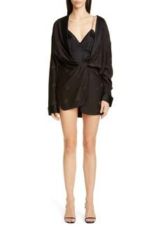 Alexander Wang Draped Silk Pajama Romper